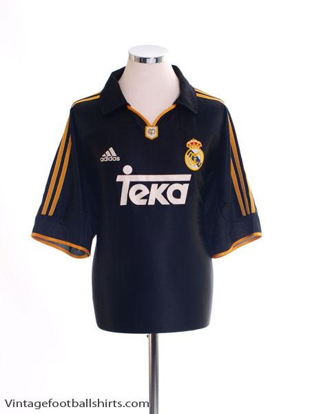 1999-01 Real Madrid Away Shirt S
