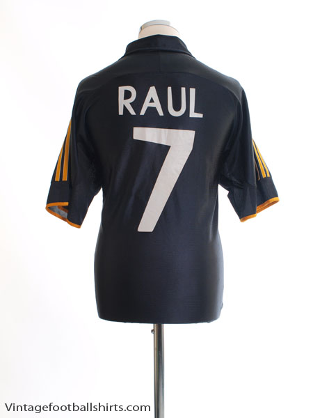 the latest 3b4f9 990b5 1999-01 Real Madrid Away Shirt Raul #7 M for sale