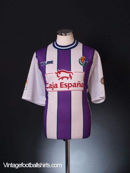 1999-01 Real Valladolid Home Shirt XL
