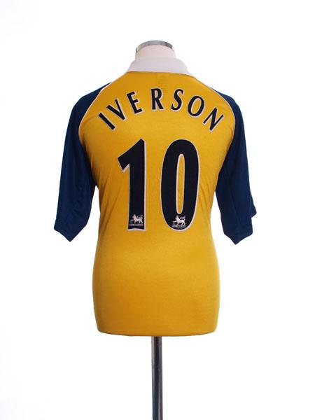 1999-01 Tottenham Away Shirt Iverson #10 M