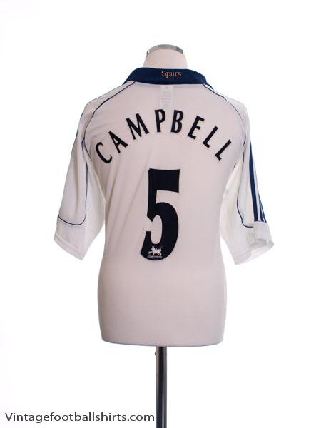 1999-01 Tottenham Home Shirt Campbell #5 XL