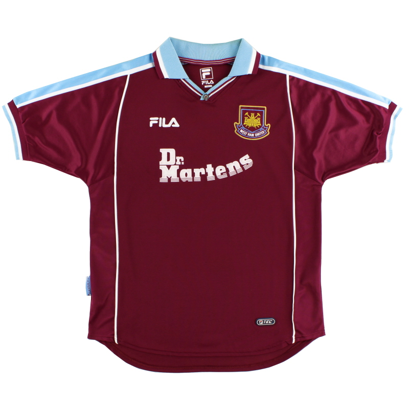 1999-01 West Ham Home Shirt L