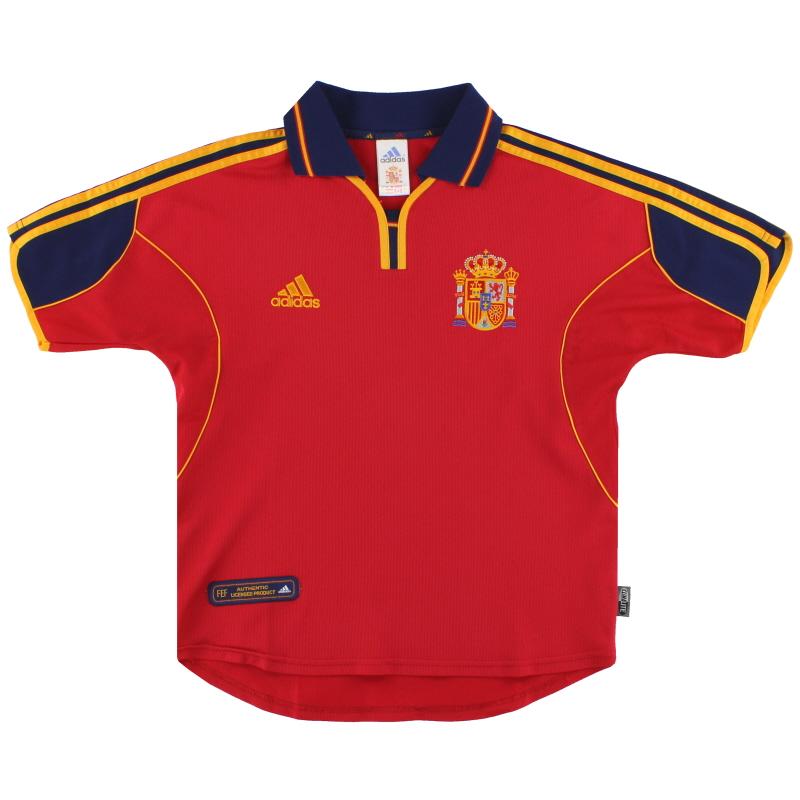 1999-02 Spain adidas Home Shirt Y - 647200