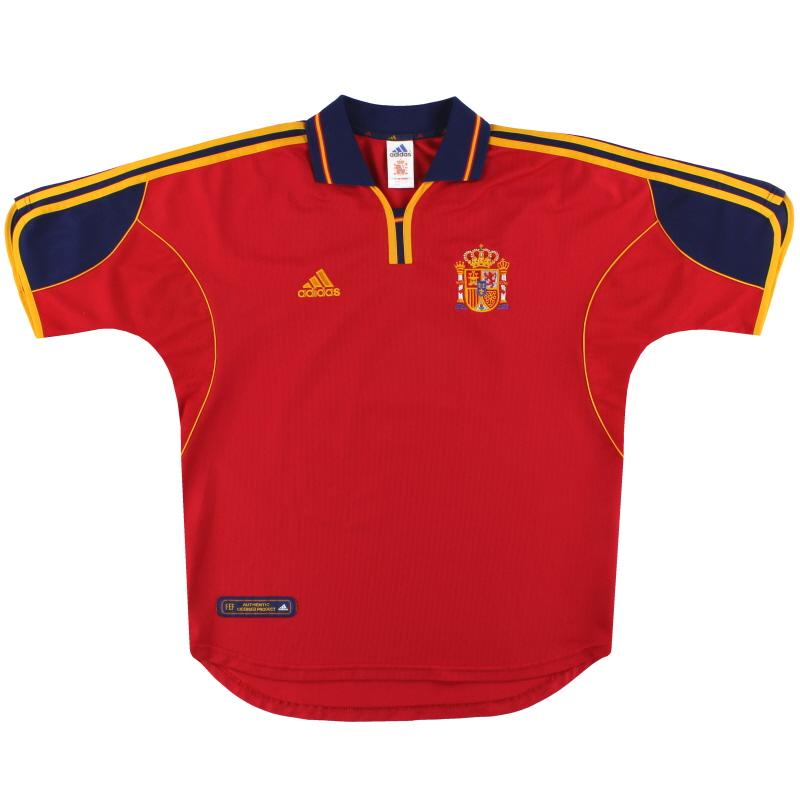 1999-02 Spain adidas Home Shirt L - 647200