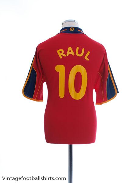 1999-02 Spain Home Shirt Raul #10 L - 647200