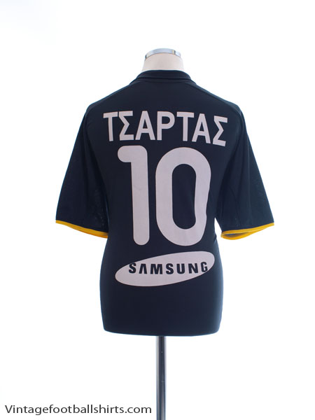 2000-01 AEK Athens Away Shirt ΤΣΑΡΤΑΣ #10 L