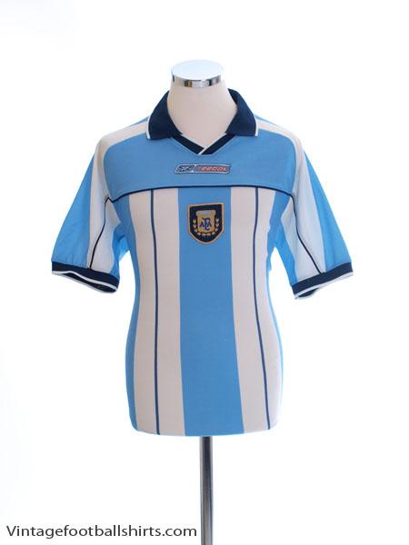 2000-01 Argentina Home Shirt M