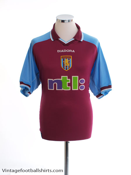 2000-01 Aston Villa Home Shirt L