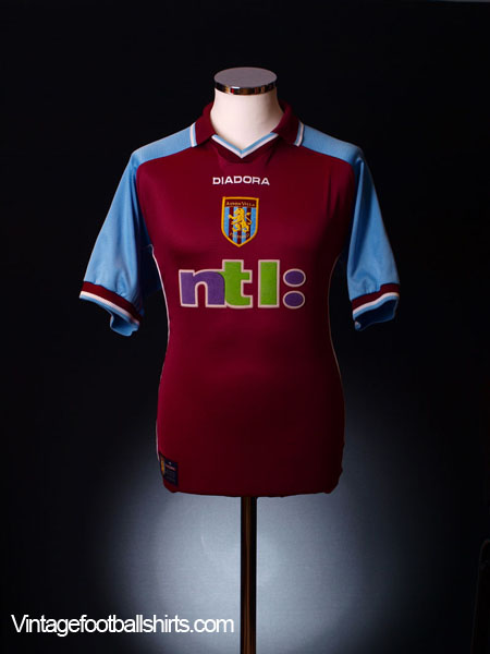 2000-01 Aston Villa Home Shirt XXL