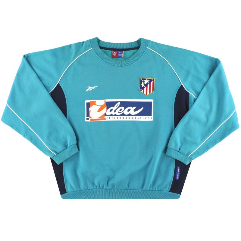 2000-01 Atletico Madrid Reebok Sweatshirt XL