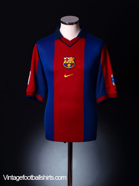 detailed look 770fe b3a43 2000-01 Barcelona Home Shirt S for sale
