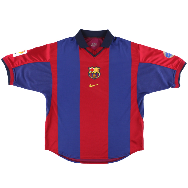 2000-01 Barcelona Nike Home Shirt L