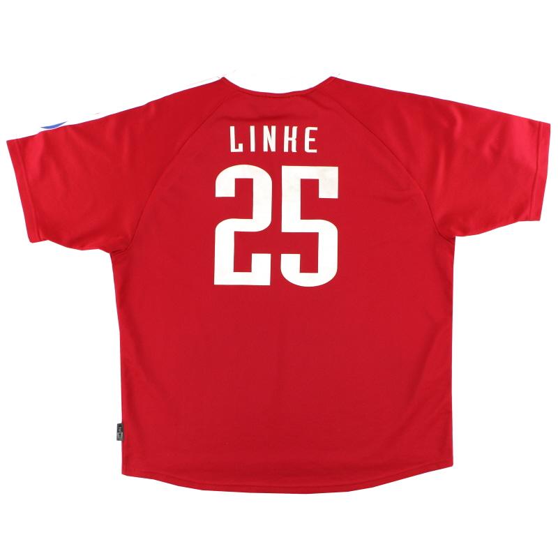 2000-01 Bayern Munich adidas Champions League Home Shirt Linke #25 XL