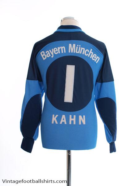 2000-01 Bayern Munich Goalkeeper Shirt Kahn #1 M