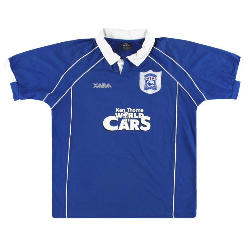 2000-01 Cardiff City Home Shirt M