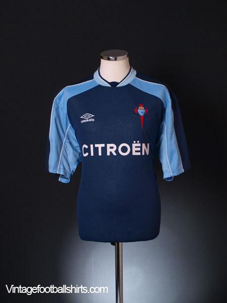 2000-01 Celta Vigo Away Shirt XL
