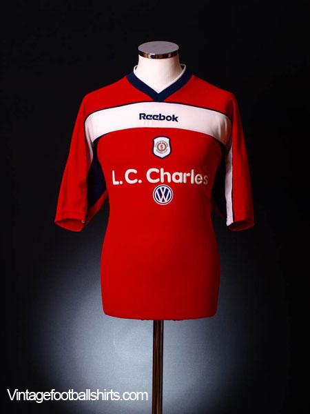2000-01 Crewe Alexandra Home Shirt *Mint* L
