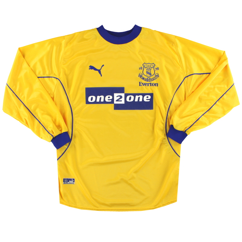 2000-01 Everton Puma Away Shirt L/S M