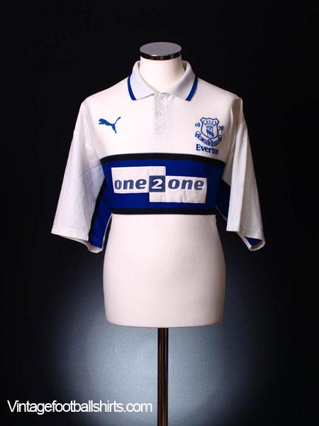 2000-01 Everton Third Shirt *Mint* L