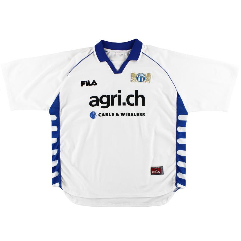2000-01 FC Zurich Fila Home Shirt XL