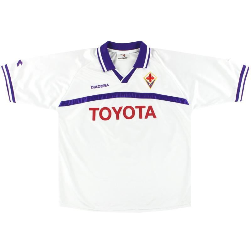 2000-01 Fiorentina Diadora Away Shirt XL