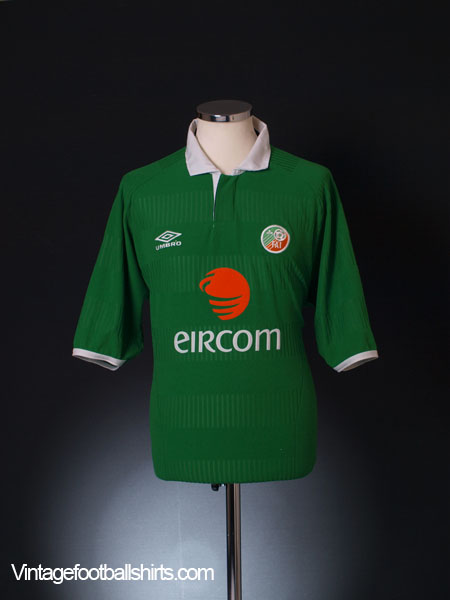 2000-01 Ireland Home Shirt L