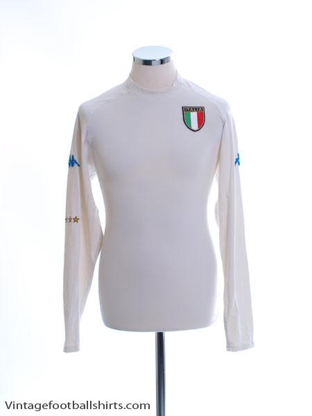 2000-01 Italy Away Shirt L/S XXL