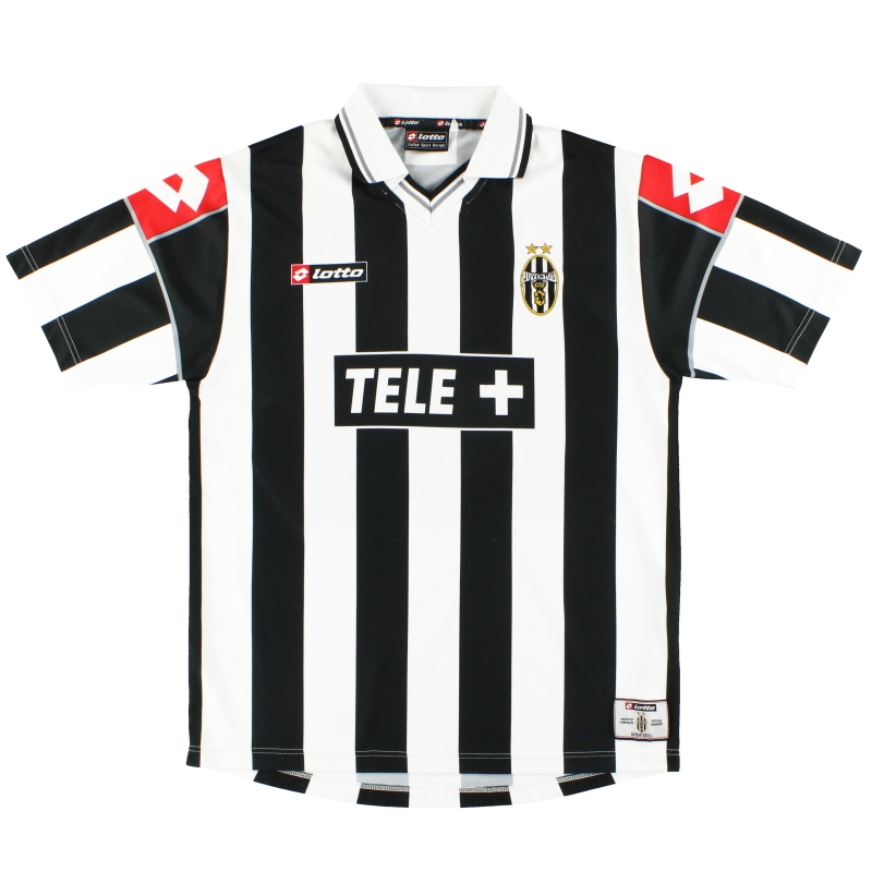 T-Shirts 2000-01 Juventus Lotto Home Shirt L