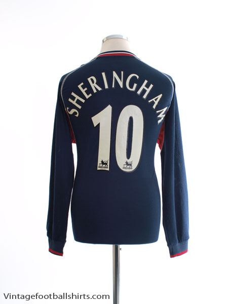 2000-01 Manchester United Third Shirt Sheringham #10 L/S M