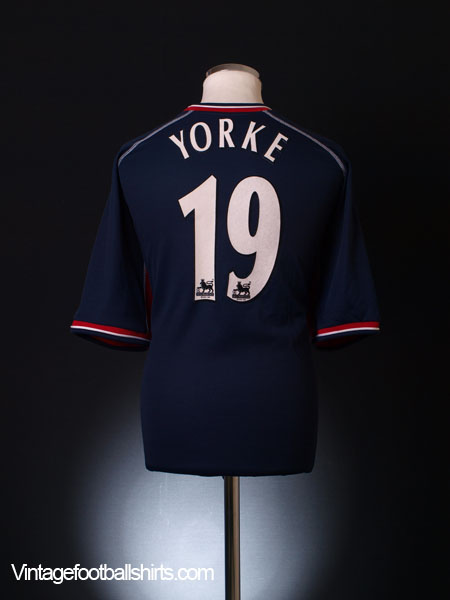 2000-01 Manchester United Third Shirt Yorke #19 XXL