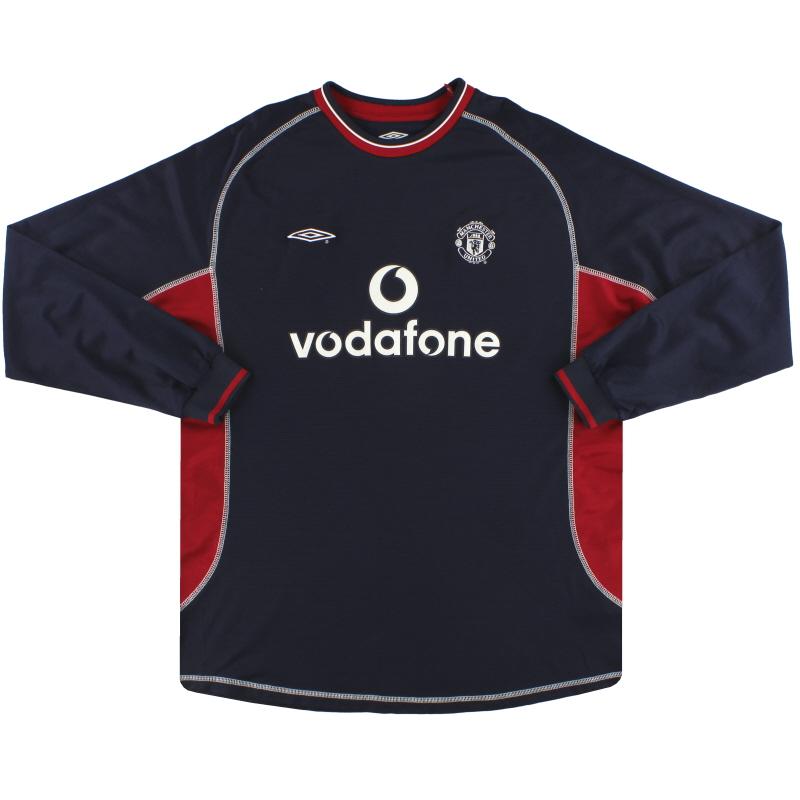 2000-01 Manchester United Umbro Third Shirt L/S XXL