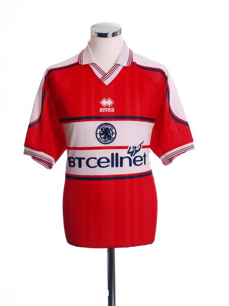 2000-01 Middlesbrough Home Shirt XL