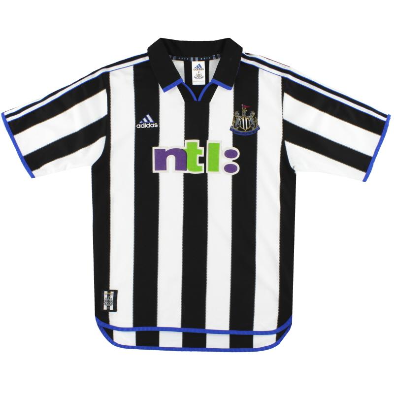 2000-01 Newcastle United adidas Home Shirt M - 687204