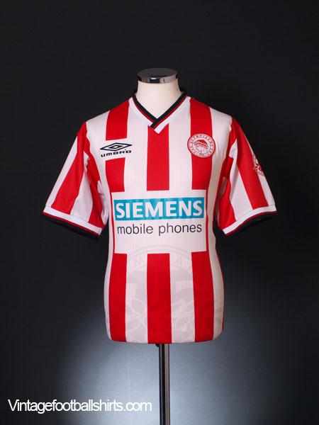 2000-01 Olympiakos Home Shirt *Mint* L