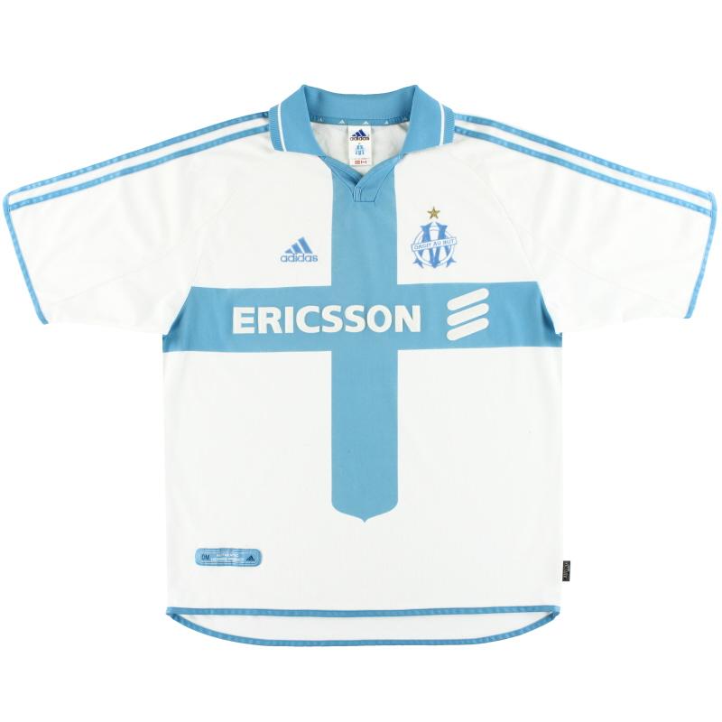 2000-01 Olympique Marseille adidas Home Shirt L - 685317