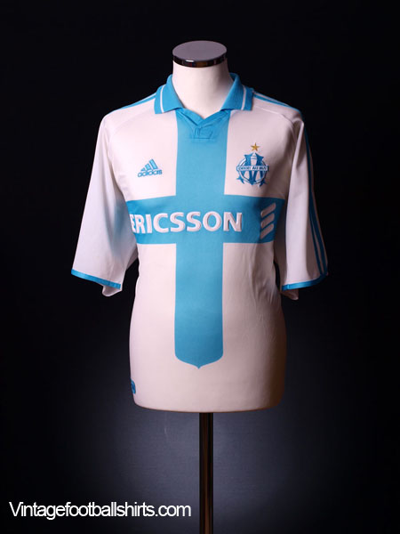 2000-01 Olympique Marseille Home Shirt L
