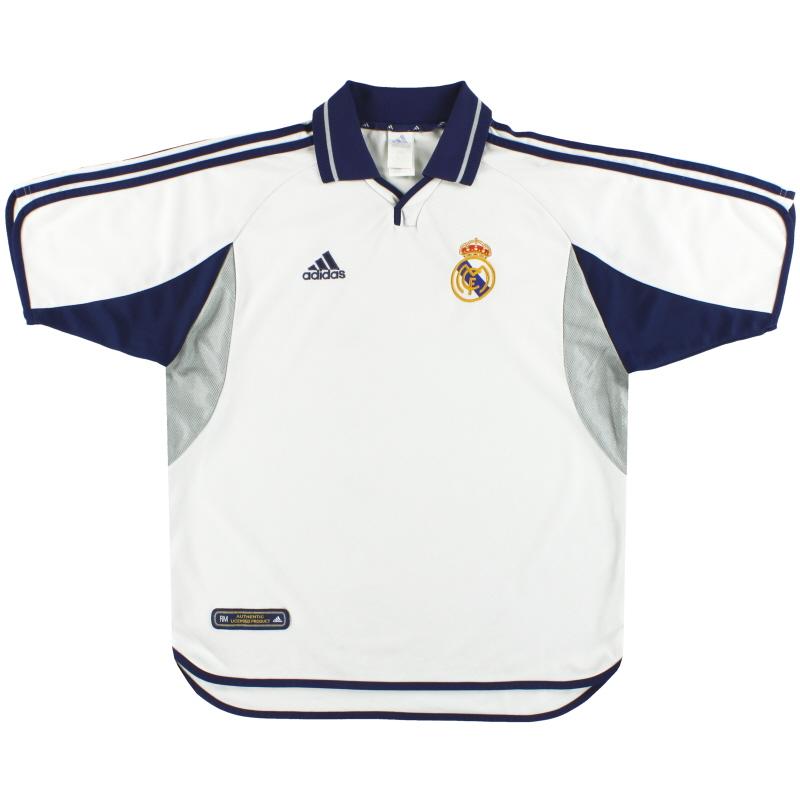 2000-01 Real Madrid adidas Home Shirt L