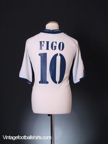 2000-01 Real Madrid Home Shirt Figo #10 L