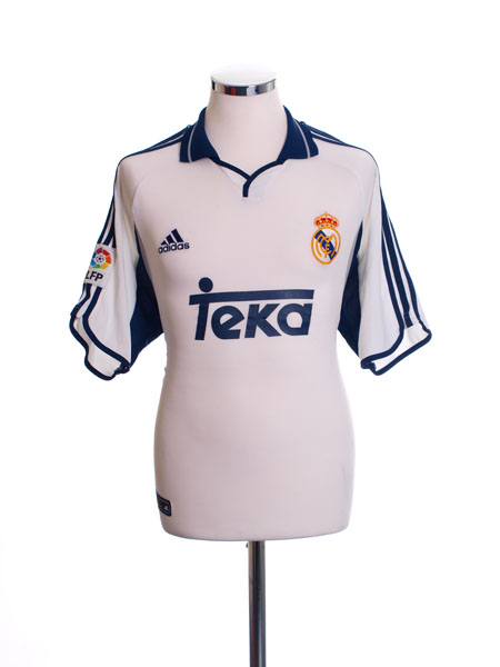 buy popular 07959 1bed4 2000-01 Real Madrid Home Shirt M for sale