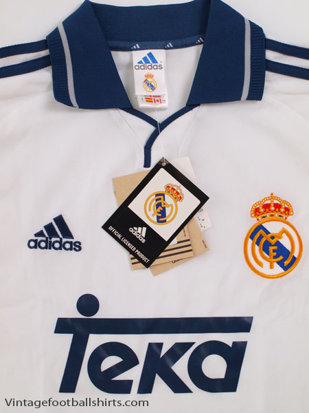 uk availability 77352 cdb83 2000-01 Real Madrid Home Shirt *BNWT* L for sale