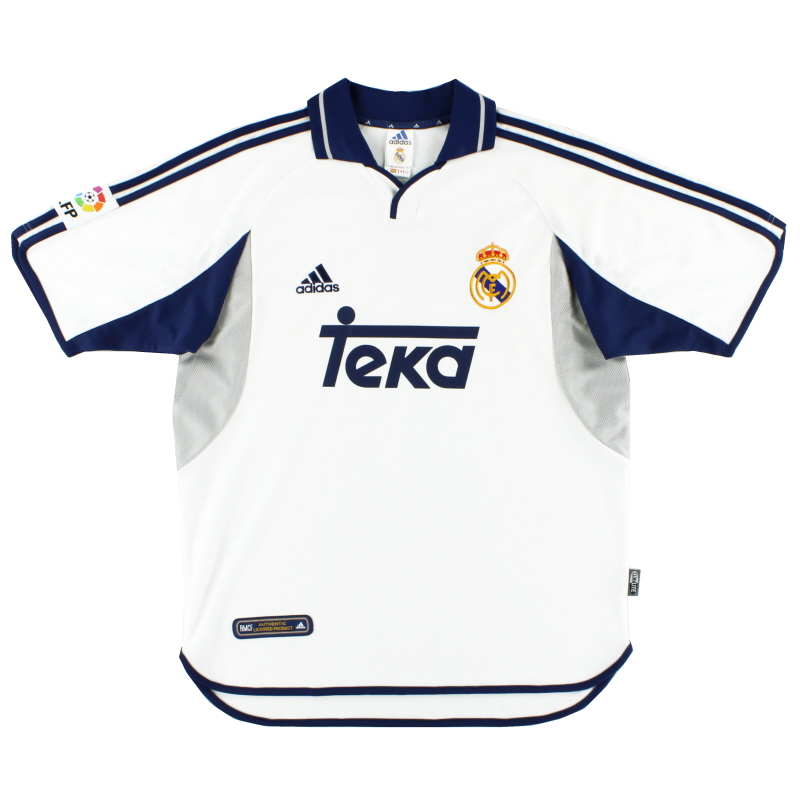 2000-01 Real Madrid Home Shirt XL - ASR001-18