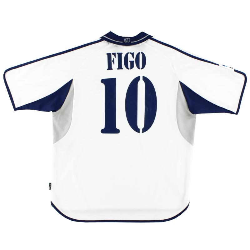 2000-01 Real Madrid Home Shirt Figo #10 XL - 685331