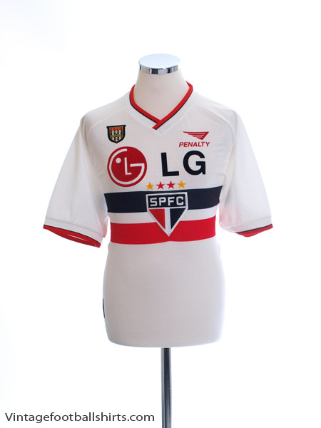 2000-01 Sao Paulo Home Shirt L