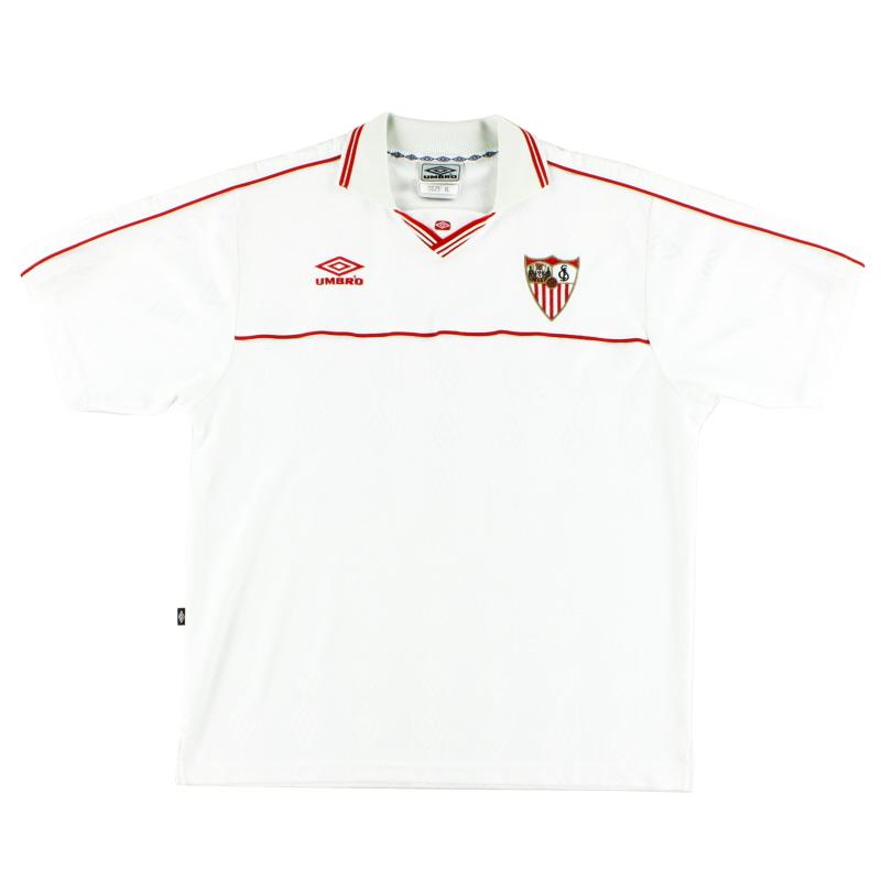 2000-01 Sevilla Home Shirt XL