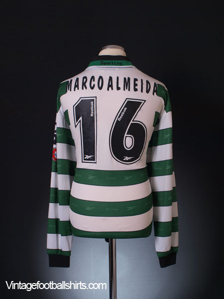 2000-01 Sporting Lisbon Player Issue Home Shirt Marco Almeida #16 XL