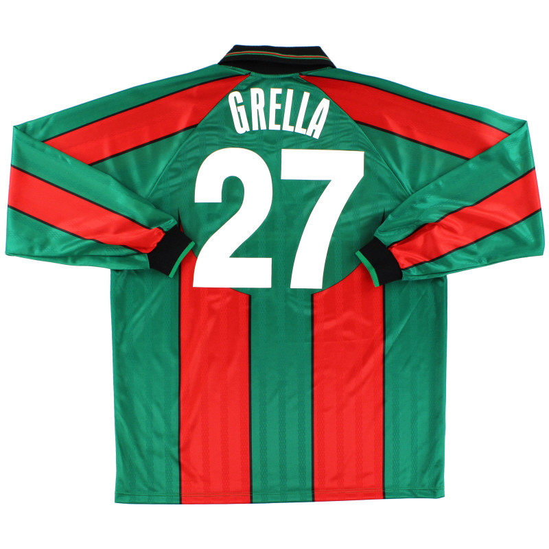 2000-01 Ternana Match Issue Home Shirt Grella #27 L/S *Mint* XXL