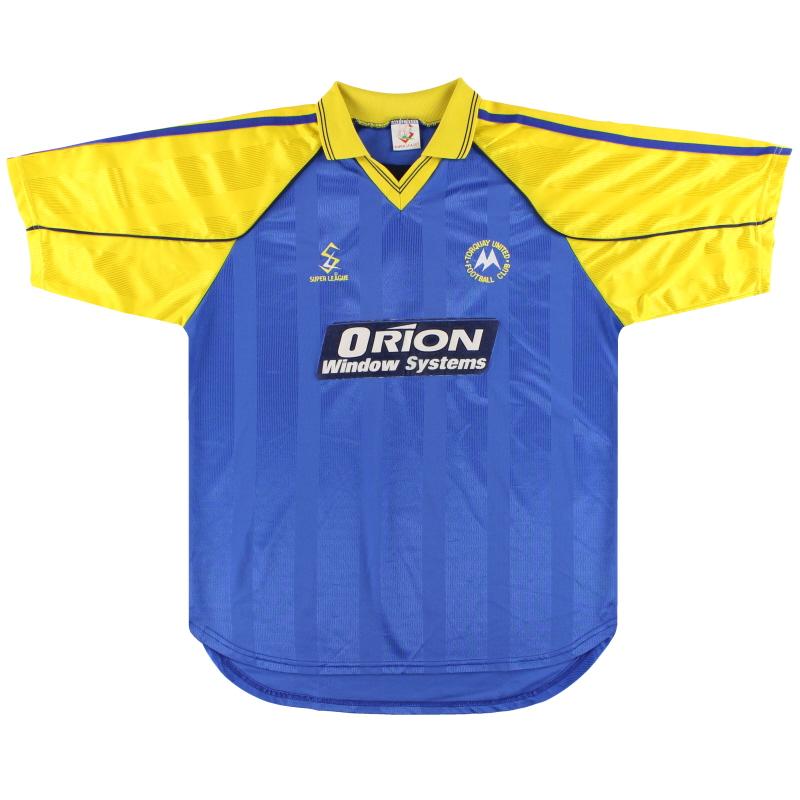 2000-01 Torquay United Away Shirt L