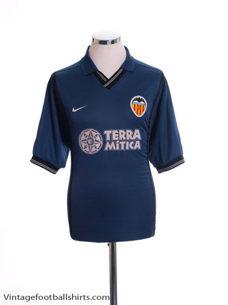 2000-01 Valencia Away Shirt M