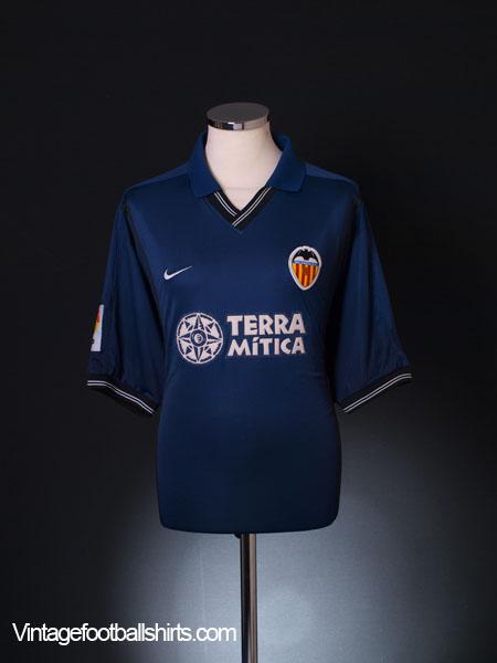 2000-01 Valencia Away Shirt XL