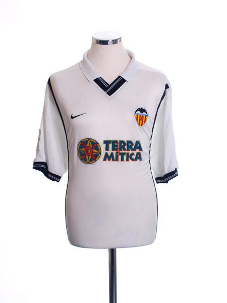 2000-01 Valencia Home Shirt XL